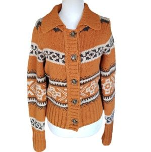 vince | Cashmere Fair Isle Cardigan Sweater
